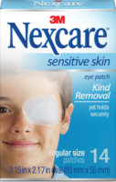 Nexcare Sensitive Skin Eye Patch 14 ea [051131211841]