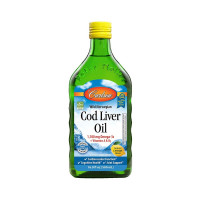 Carlson  Cod Liver Oil 1,100 mg Omega-3s, Lemon, 16.9 oz  [088395013522]