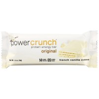 Power Crunch Protein Energy Bar, 1.4 oz bars, French Vanilla Cream 12 bars [644225727382]