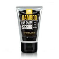 Pacific Shaving Company Shave Smart Bamboo Pre-Shave Scrub - Exfoliates, Soothes & Moisturizes, Controls Blemishes, Unscented, All Skin Types, 3 oz