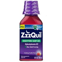 ZzzQuil Nighttime Sleep-Aid, Calming Vanilla Cherry 12 oz [323900038585]