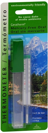 Geratherm Thermometer Oral Mercury Free 1 Each [614801200301]
