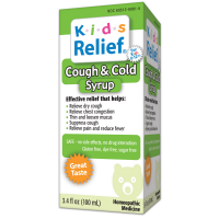 Homeolab USA Kids Relief Cough & Cold Syrup, Ages 2+  3.4 oz [778159090615]