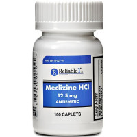 Reliable 1 Meclizine HCL 12.5mg Caplets 100 ea [369618027015]