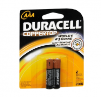 Duracell Coppertop AAA Alkaline Batteries 2 Each [041333224015]