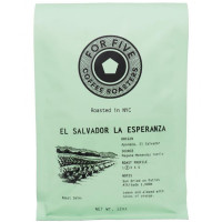 For Five Coffee Roasters El Salvador La Esperanza Ground 12 oz [853473008192]