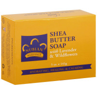 Nubian Heritage Bar Soap, Shea Butter with Lavender & Wildflowers 5 oz [764302112006]