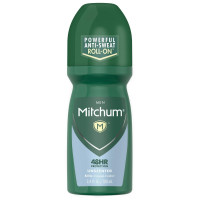 Mitchum Invisible Anti-Perspirant & Deodorant Roll-On, Unscented 3.4 oz [309971185915]