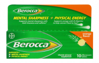 Berocca Orange Flavor Vitamin Mineral Supplement Effervescent Tablets, 10 ea [016500556442]