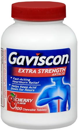 Gaviscon Tablets Extra Strength Cherry Flavor 100 Tablets [307661173259]