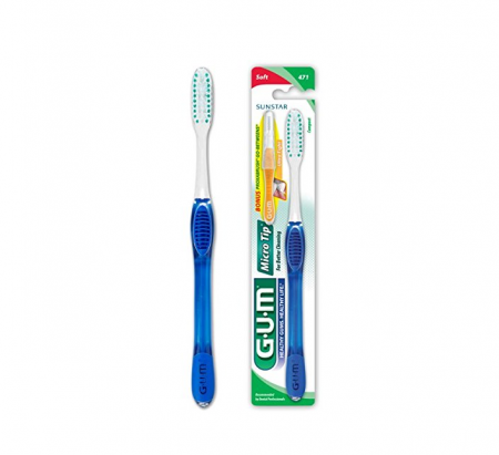 GUM Micro Tip Toothbrush Soft/Compact 1 Each [070942127455]