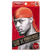 Kiss Red Power Wave Velvet Luxe Durag, Red 1 ea [731509775631]