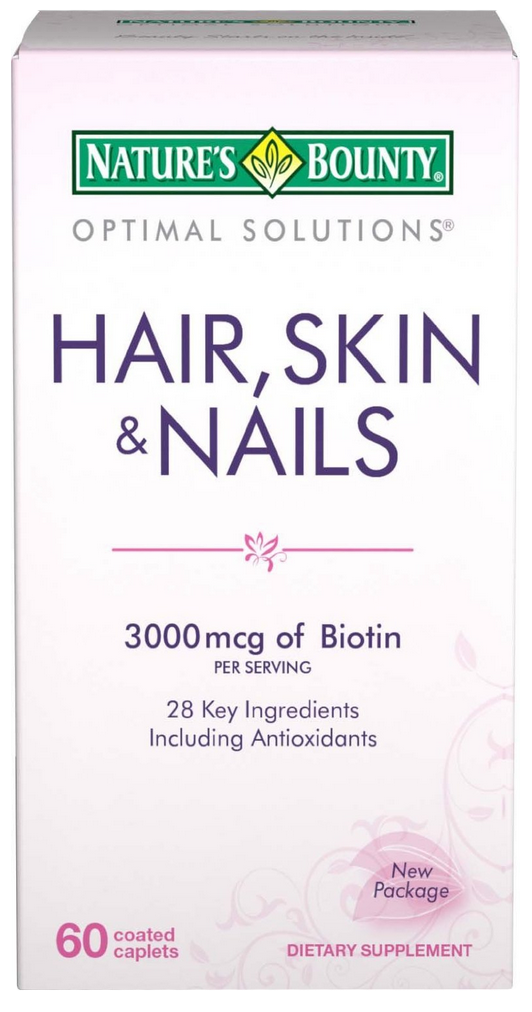 Nature S Bounty Hair Skin And Nails Caplets 60 Ea
