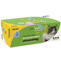 Van Ness Pure Ness Drawstrin Cat Pan Liners, Large 20 ea [079441422207]