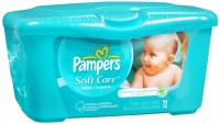 Pampers Natural Aloe Unscented Wipes 72 Each [037000282525]