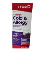 Children's Elixir Cold & Allergy [PSE Free], Grape 4 oz [096295130386]