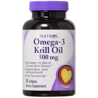 Natrol Omega-3 Krill Oil 500 Mg Softgels 30 ea [047469071011]