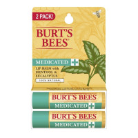 Burt's Bees 100 Percent Natural Medicated Moisturizing Lip Balm (Twin Pack) 1 ea [792850029149]