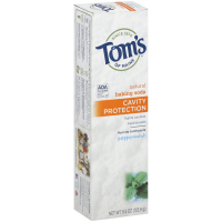 Tom's of Maine Cavity Protection with Baking Soda Natural Fluoride Toothpaste, Peppermint 5.50 oz [077326830772]