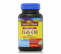 Nature Made Fish Oil, 1200 mg, Burp-Less, Liquid Softgels 60 ea [031604014162]