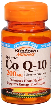 Sundown Q-Sorb CoQ-10 200 mg Softgels 30 Soft Gels [030768040017]