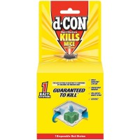 d-CON Rodenticide Rodent and Mouse Disposable Bait Station Corner Fit, 1 ct [019200895439]