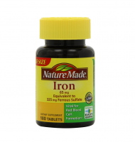Nature Made Iron 65 mg Tablets 180 ea [031604026127]