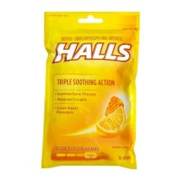 Halls Triple Soothing Action Cough Drops, Honey Lemon 30 Each [312546628694]
