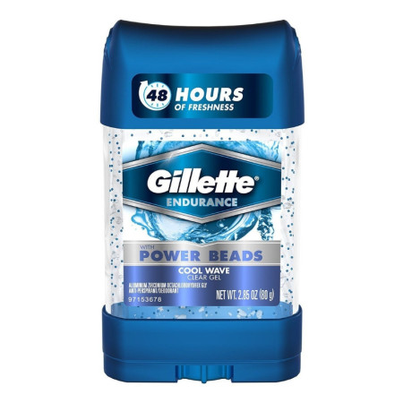 Gillette Power Beads Anti-Perspirant Deodorant Clear Gel Cool Wave 2.85 oz [047400097582]