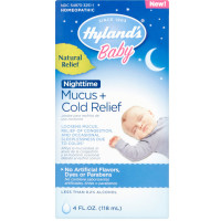 Hyland's Baby Nighttime Mucus & Cold Relief, Natural Relief 4 oz [354973325111]