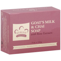 Nubian Heritage Bar Soap, Goat's Milk & Chai with Rose Extract 5 oz [764302123156]