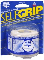 Self-Grip Self-Adhering Athletic Tape Bandage 2 Inches, White 1 ea [078509043521]