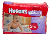 Huggies Little Movers Diapers Size 3, 16-28 lb - 14 ea [036000105179]