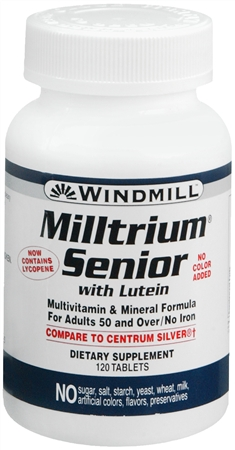 Windmill Milltrium Senior Tablets 120 Tablets [035046000493]