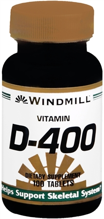 Windmill Vitamin D-400 Tablets 100 Tablets [035046002152]
