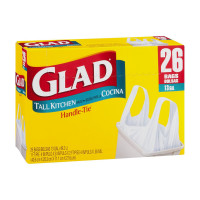 Glad 13 Gal. Handle-Tie Garbage Bags 26 ea [012587700365]
