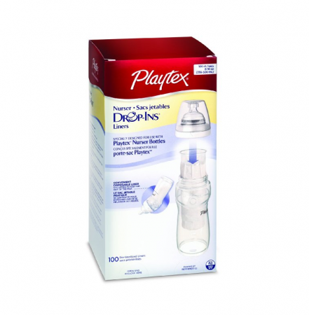 Playtex Drop-Ins Disposable Liners 8-10-Ounce 100 ea [078300055440]