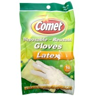 Comet Disposable - Reusable Gloves, Latex, One Size Fits All. 10 ea [071582001921]