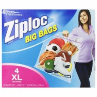 Ziploc Big Bag Double Zipper, X-Large 4  ea [025700656449]