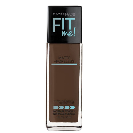 Maybelline Fit Me Matte + Poreless Liquid Foundation Makeup, Java 1 oz [041554538748]