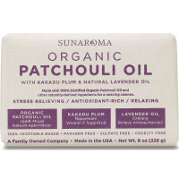 Sunaroma Organic Soap, Patchouli Oil 8 oz [815214001039]
