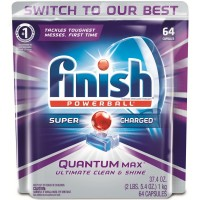 Finish Quantum Max Shine & Protect Dishwasher Detergent Tablets, Fresh Scent, 64 ct [051700927661]