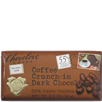 Chocolove Dark Chocolate Bar, 3.2 oz bars, Coffee Crunch 12 ea [716270001561]