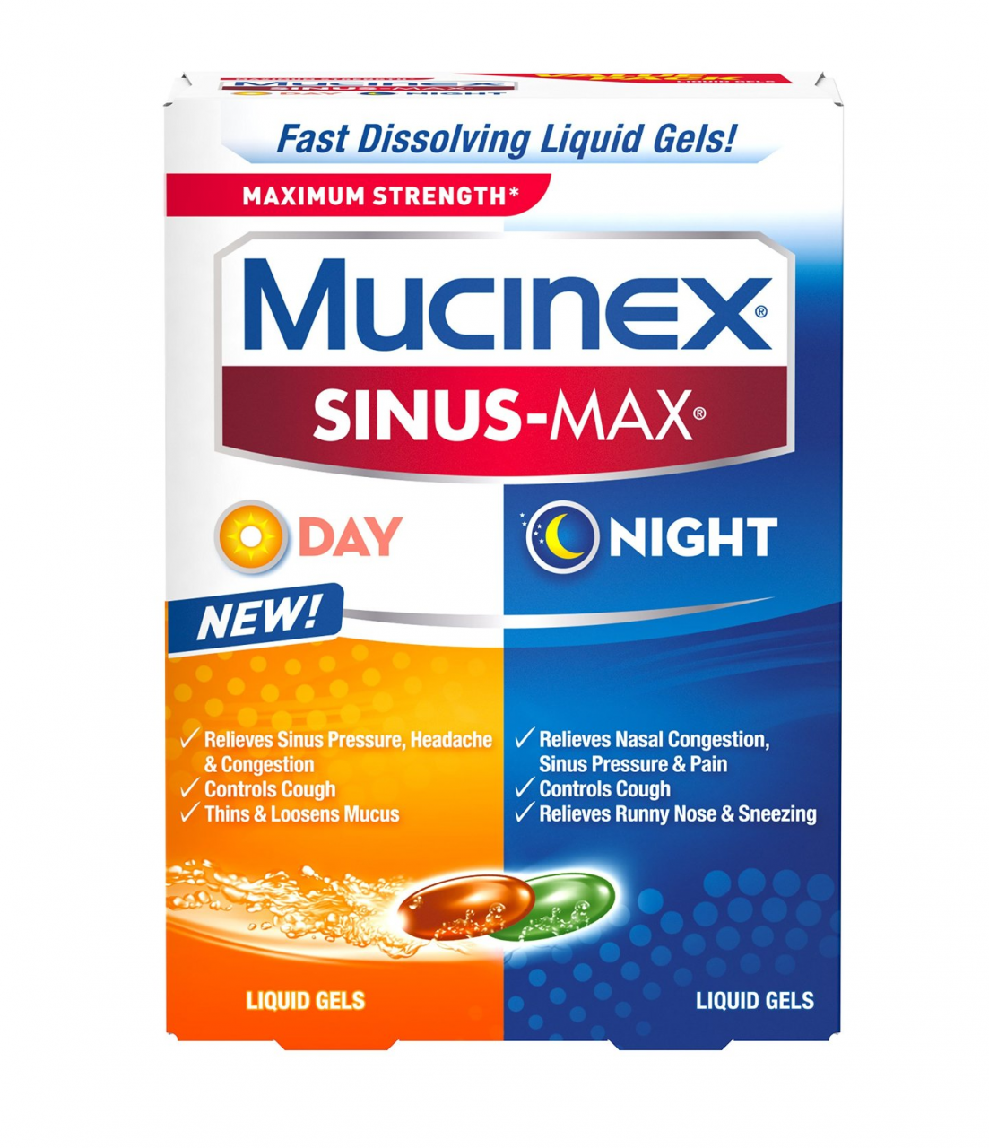 Mucinex Sinus-Max Max Strength Day & Night Liquid Gels 24