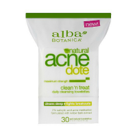 Alba Botanica Acnedote Clean 'n Treat Daily Cleansing Towelettes 30 ea [724742007652]