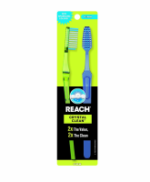 REACH Crystal Clean Adult Toothbrushes, Firm, Value Pack 2 ea [840040195430]