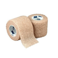 "Cohesive Bandage 3M Coban 1"" X 5 Yard Standard Compression Selfadherent Closure Tan NonSterile [707387093112]"