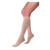 JOBST Relief Knee High 15-20 mmHg Compression Stockings, Closed Toe, Large, Beige 1 ea [035664148089]