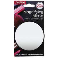 Swissco 20X Magnifying Mirror w. 2 Suction Cups 1 ea [769898081378]