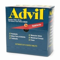 Advil Ibuprofen, 200mg (50 Packets of 2 Coated Tablets) 50 ea [305730154895]